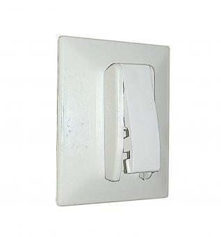 Klebeplatten mit Spannschuh Universal für Plissee verspannt
