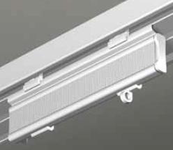Paneelwagen für Schiebevorhang weiss