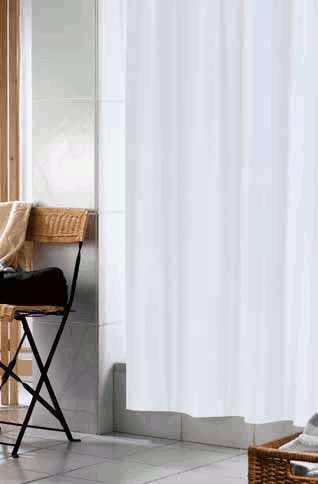 duschvorhang uni textil plissee vom profi. Black Bedroom Furniture Sets. Home Design Ideas
