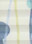 Plissee Aquarell blau